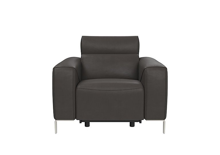 Lusso Leather Power Recliner Armchair with Power Headrest