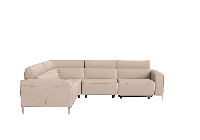 Lusso Fabric Power Recliner Corner Sofa with Power Headrests