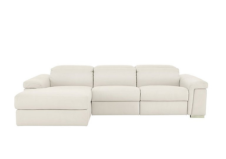 Movimento Leather Power Recliner 3 Seater Chaise Sofa with Power Headrests