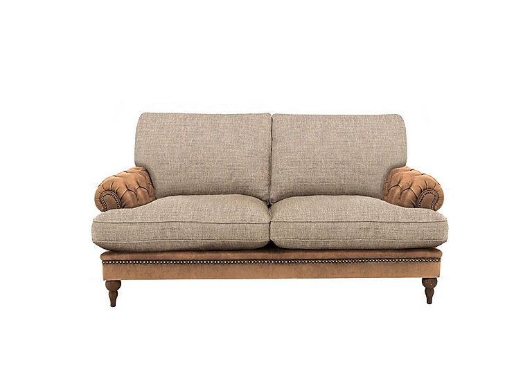 Navajo Leather and Fabric Mix Classic Back 2 Seater sofa