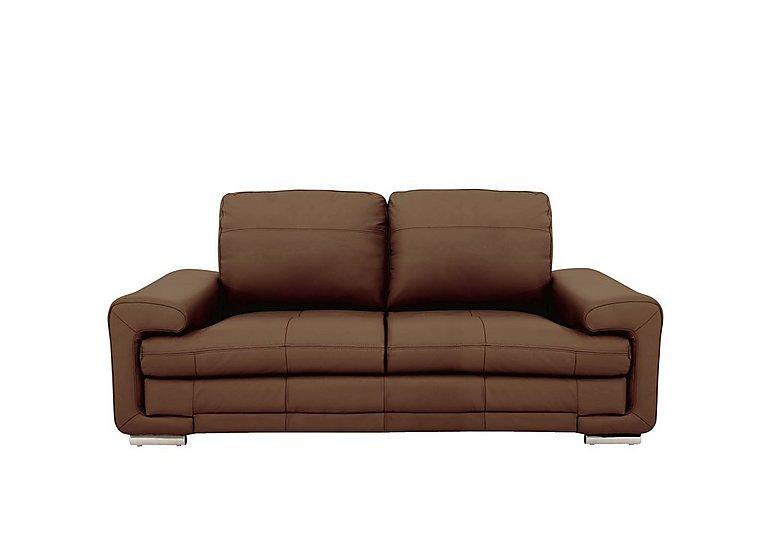 Gamma 3 Seater Leather Sofa