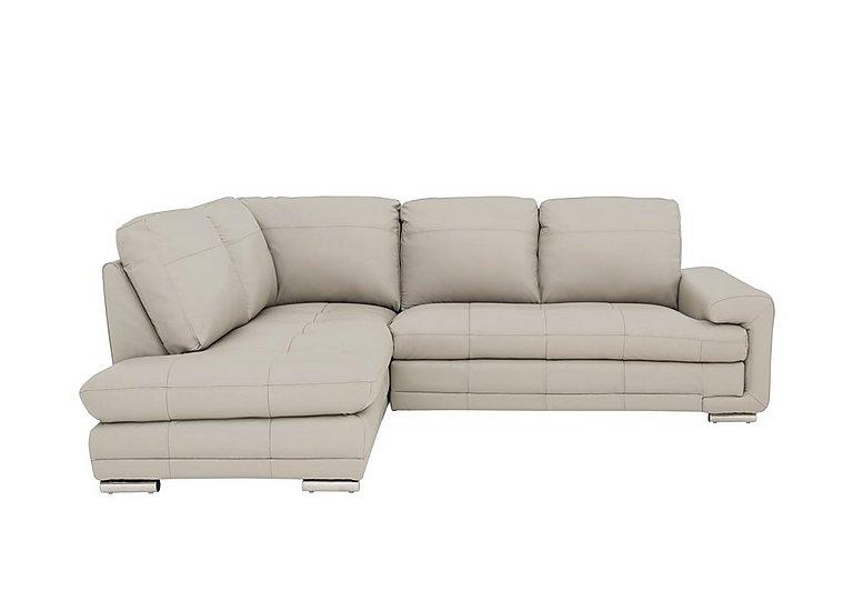 Gamma Leather Chaise Sofa
