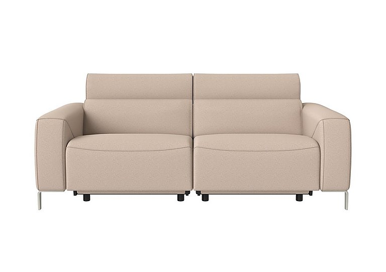 Lusso Fabric Power Recliner 3 Seater Sofa with Power Headrests