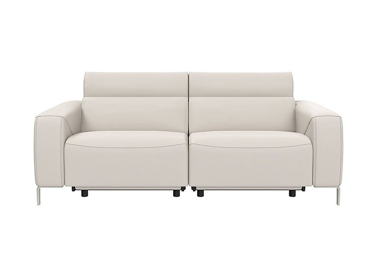 Lusso Leather Power Recliner 3 Seater Sofa with Power Headrests
