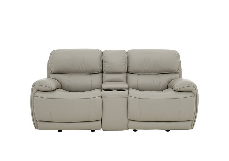 Loco 2 Seater Power Rocker Leather Sofa with Cup Holders and Power Headrests