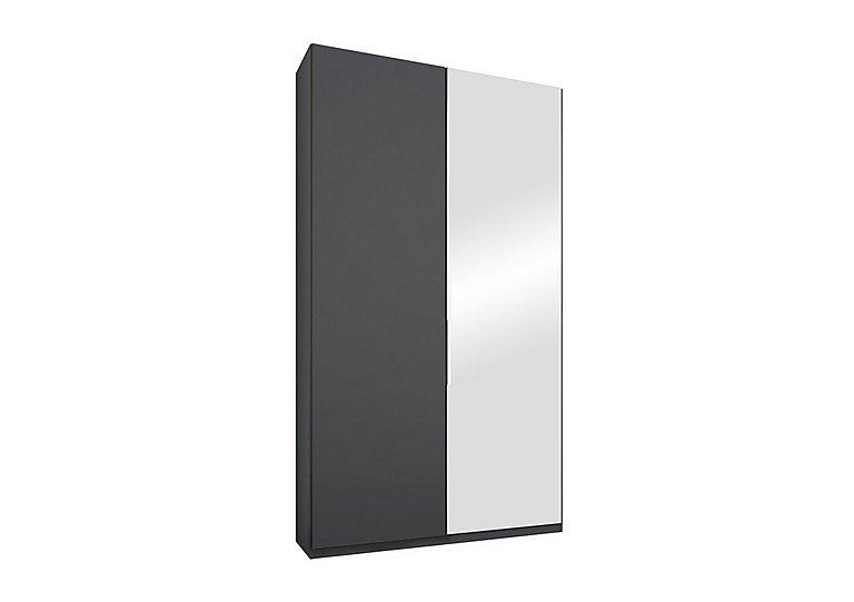Formes 2-door hinged wardrobe with 1 mirror door and 1 glass door
