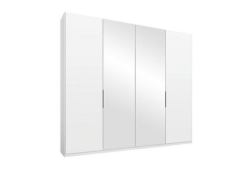 Formes 4-door hinged wardrobe with 2 décor-finish doors and 2 mirror doors