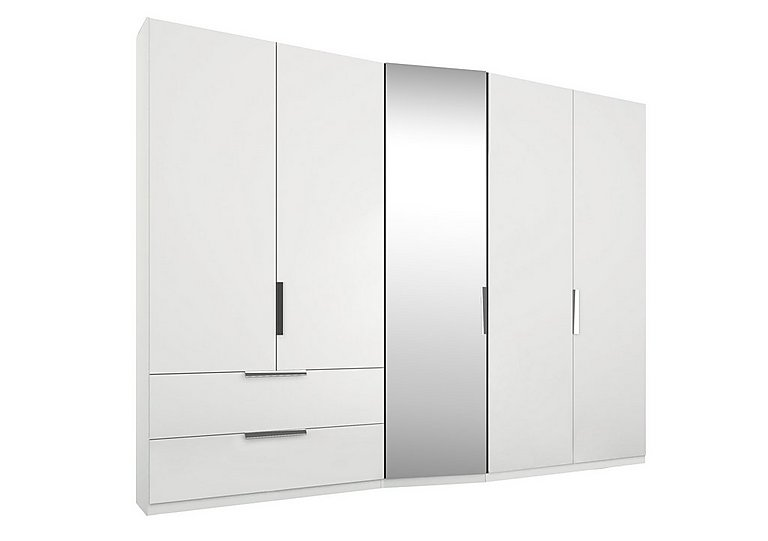 Adelaide 5 Door Left Hand Facing Hinged Wardrobe