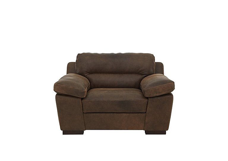 Alessia Leather Snuggler Armchair