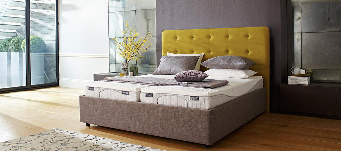 Dunlopillo mattresses beds and divans furniture village for Furniture village beds