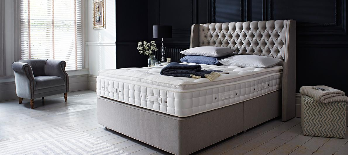 Hypnos beds mattresses headboards furniture village for Furniture village beds