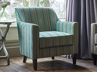 Fabric armchair sale