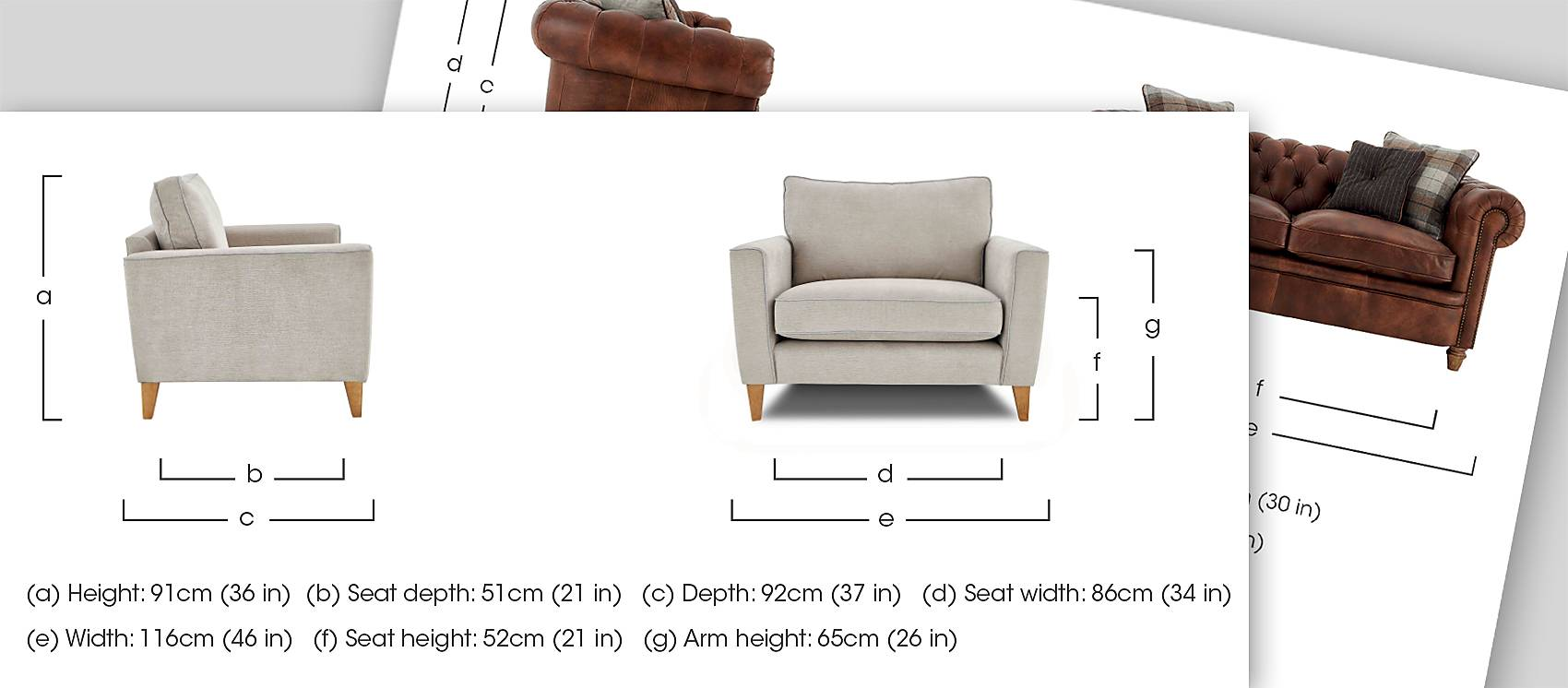 Measuring furniture guide