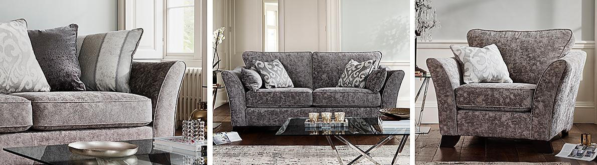 Furniture Village Annalise annalise ii 4 seater fabric split frame sofa - furniture village