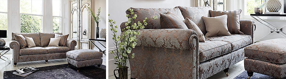 Chelsea Village 3 Seater Fabric Sofa Duresta Furniture