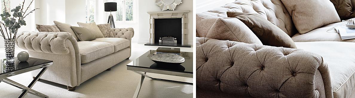Furniture Village Sofas langham place 4 seater fabric sofa - furniture village