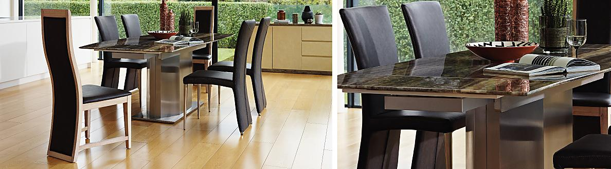 Long island dining table and edison chairs furniture