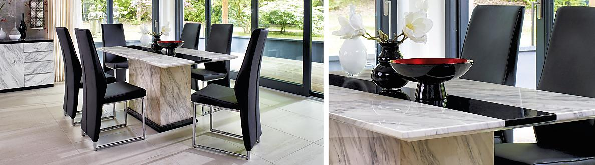 The Tops Are Crafted From The Finest Solid Volakas Marble, With Black  Marquina Marble Effect Panels Providing A Striking Contrast. Choose High  End Style And ...