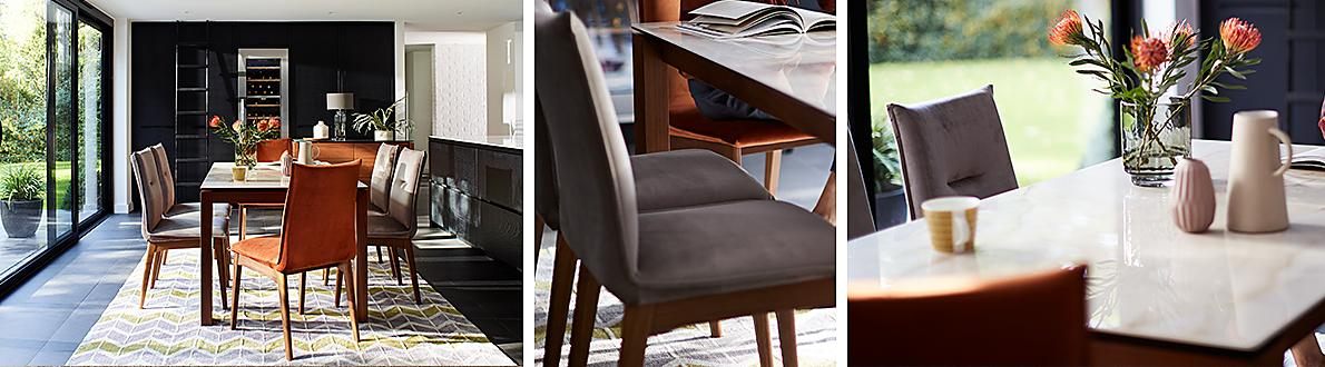 And Fully Upholstered Dining Chairs Ceramic Is Waterproof Heatproof Scratch Resistant Does Not Dent Or Stain Easy To Clean