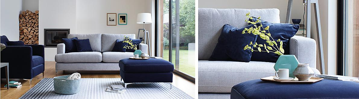 The Clean Lines And Chrome Finished Feet Are Perfect For Modern Home Designer Style Exclusive To Furniture Village
