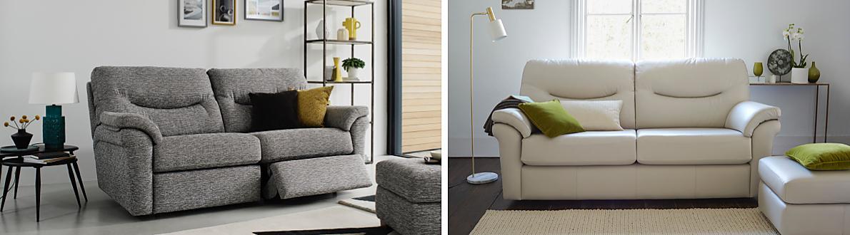 Furniture Village Insurance washington 3 seater leather recliner sofa - g plan - furniture village