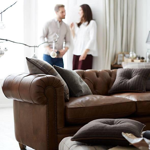 Furniture Village leather sofas
