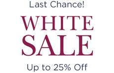 Last Chance! White Sale