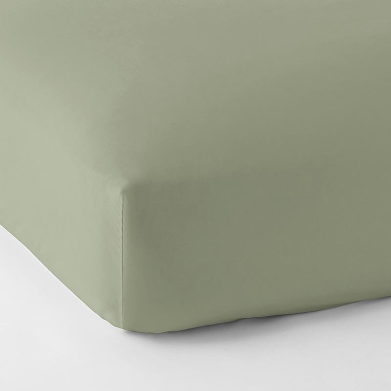 Legends Hotel Supima Cotton Wrinkle-Free Sateen Fitted Sheet Moss Green, Queen