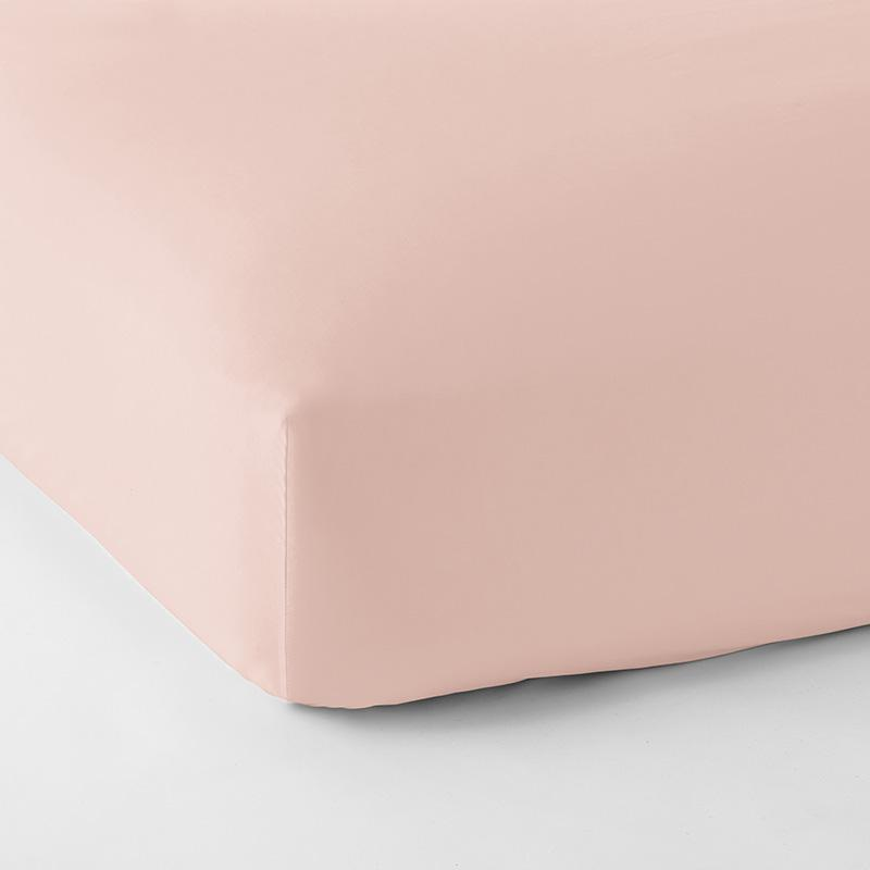 Legends Hotel Supima Cotton Wrinkle-Free Sateen Fitted Sheet Pink, Twin
