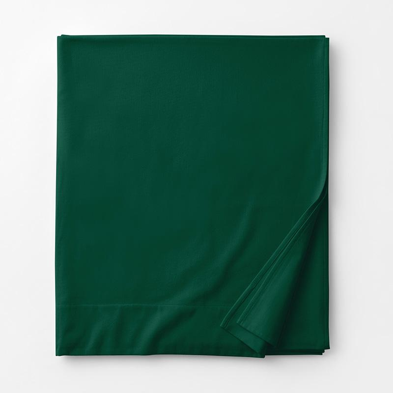 Company Cotton Flannel Flat Sheet Green, King