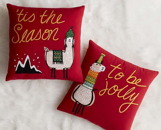 Holiday Novelty Pillow Covers - Llama