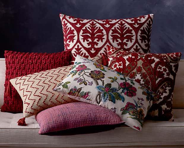 Red Multi Embroidered Pillow Covers