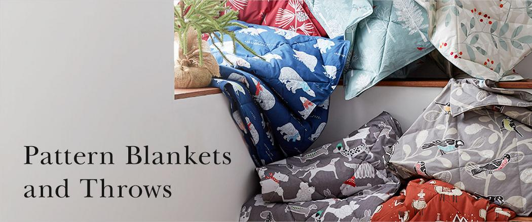 Pattern Blankets & Throws