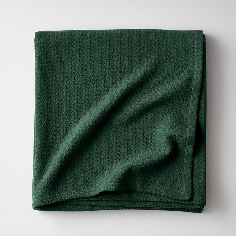 Cotton Weave Throw Green