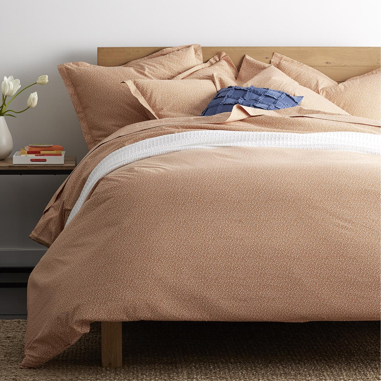 Mica Organic Percale Bedding - Clay