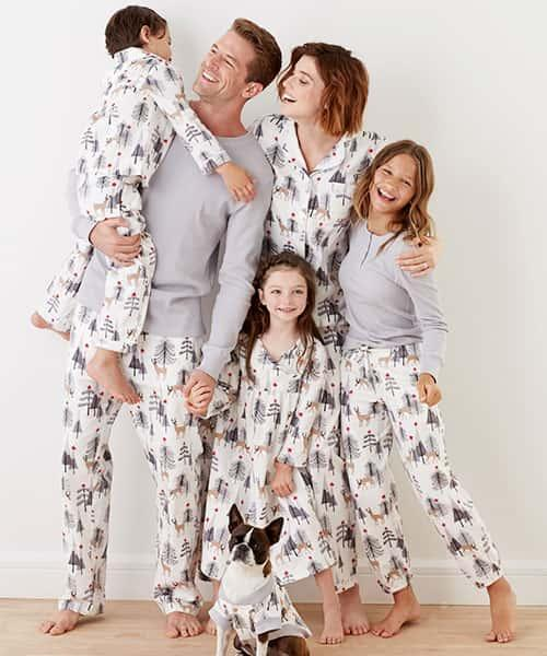 Family Flannel Pajamas - Deer