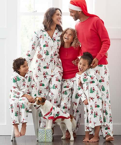 Family Flannel Pajamas - Santa