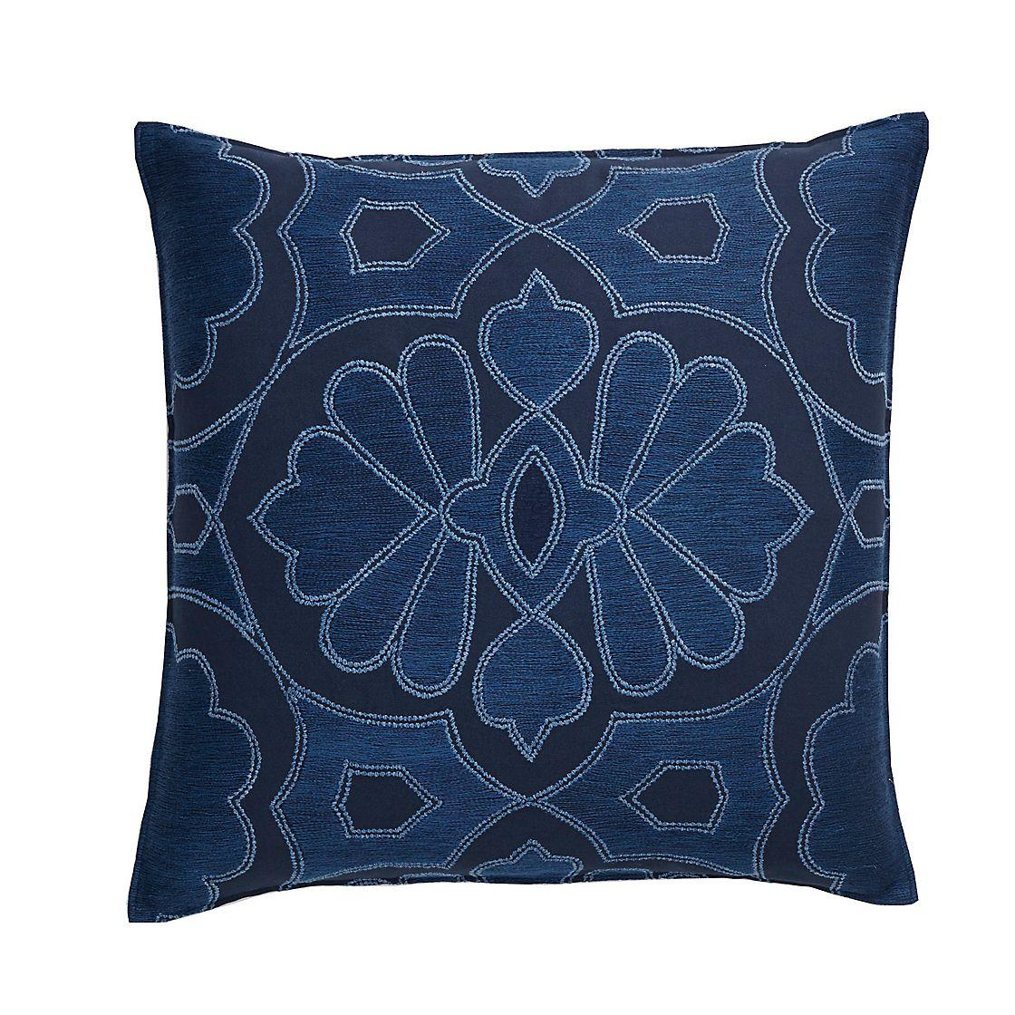 Floral Embroidered Accent Pillow Cover