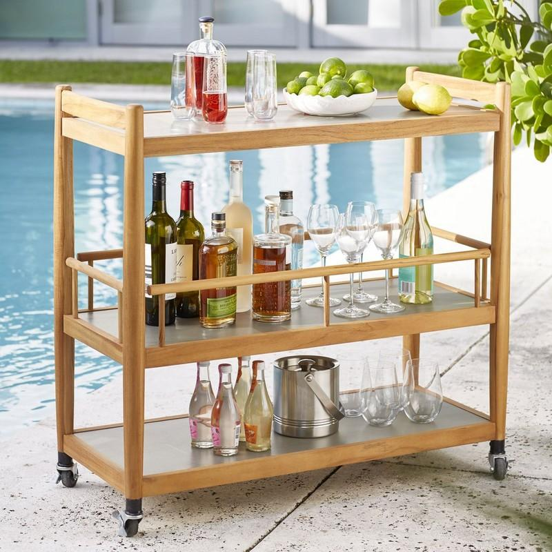 Teak Indoor/Outdoor Bar Cart