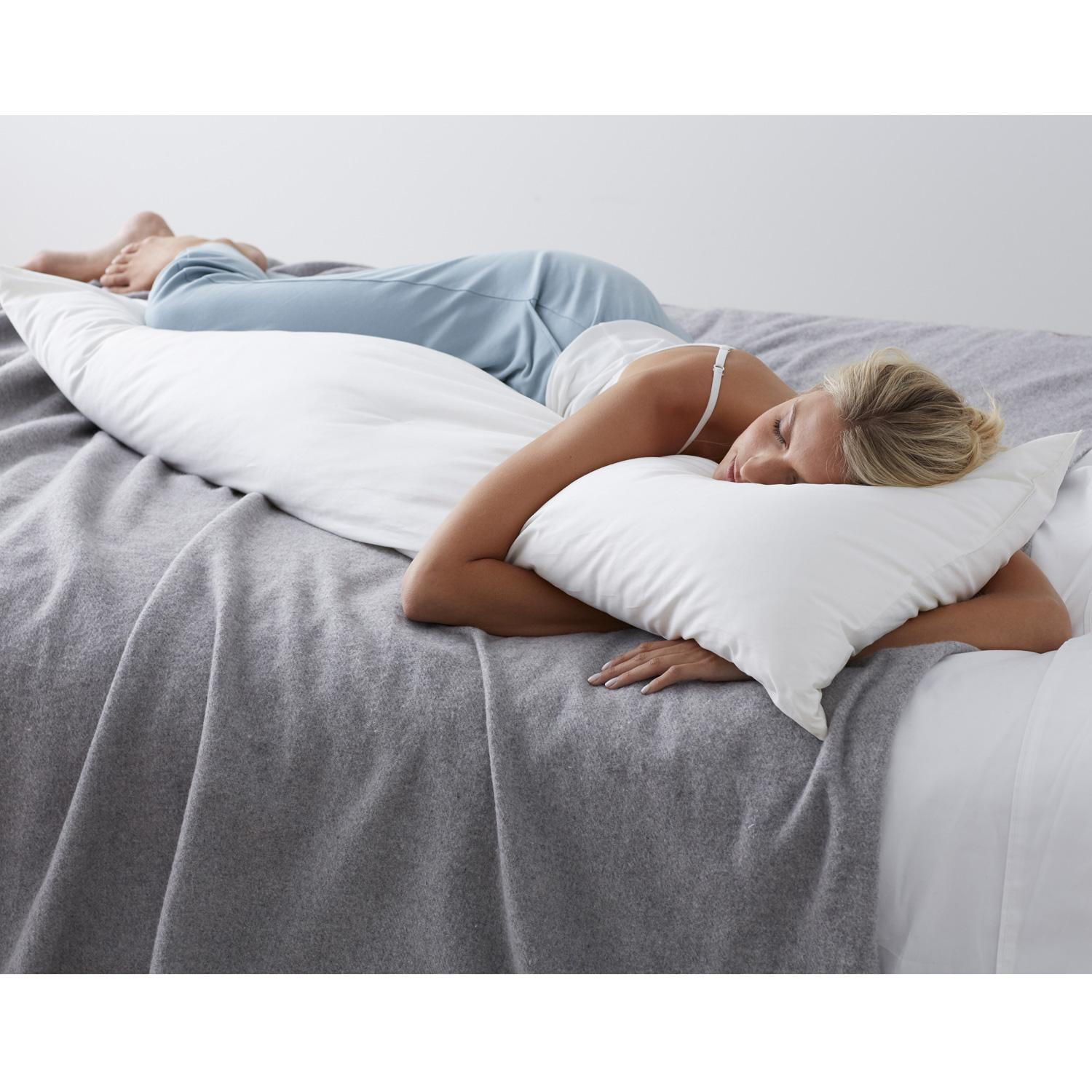 Firm Density, 95% Feathers/5% Down Fill, Body Pillow, 20 x 72
