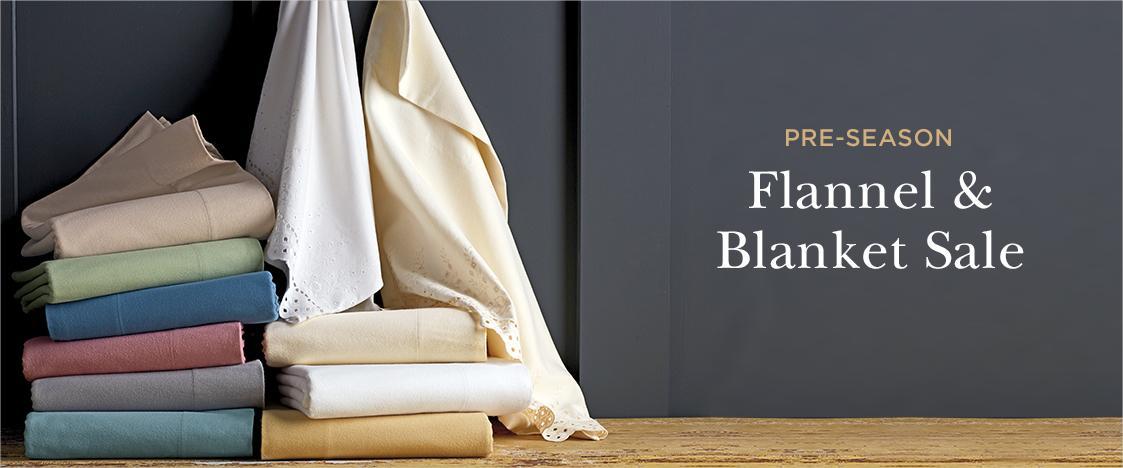 Pre-season Flannel and Blanket Sale