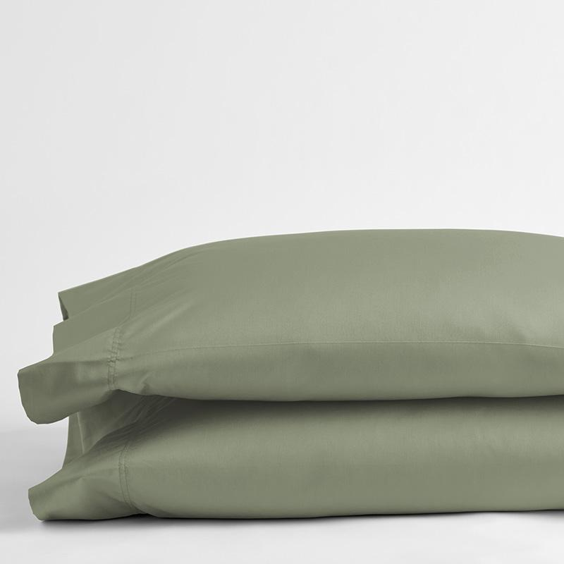 Legends Hotel Supima Cotton Wrinkle-Free Sateen Pillowcases Moss Green, King