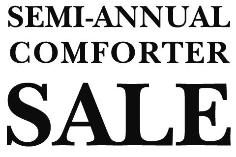 Semi-Annual Comforter Sale