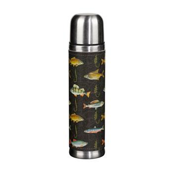 Hook Line & Sinker Black Insulated Thermos