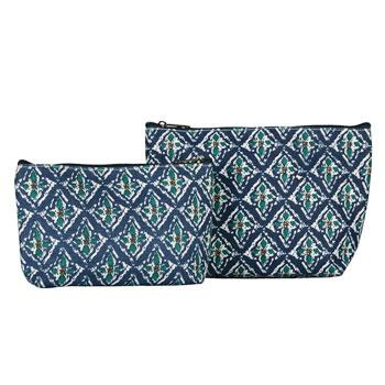 Rock Flower Paper™ Cosmetic Bag Set of 2 - Annette Navy
