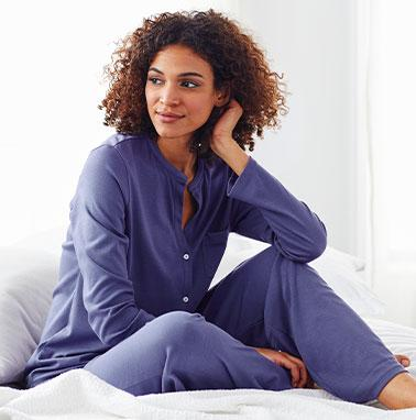 Shop Pima Cotton Neckband Pajama Set