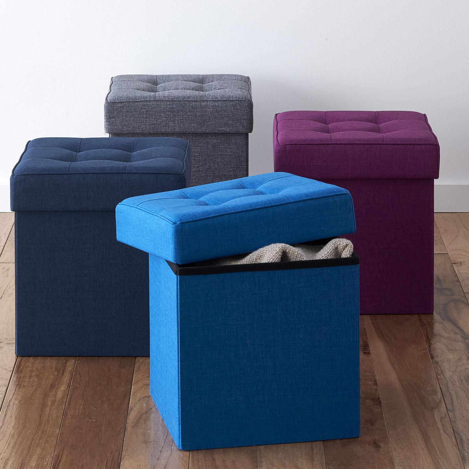 Tufted Storage Ottoman The Company Store