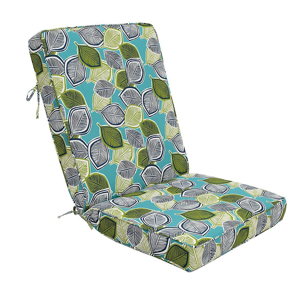 Outdoor Lounge Chair Seat & Back Cushion (44x22x3