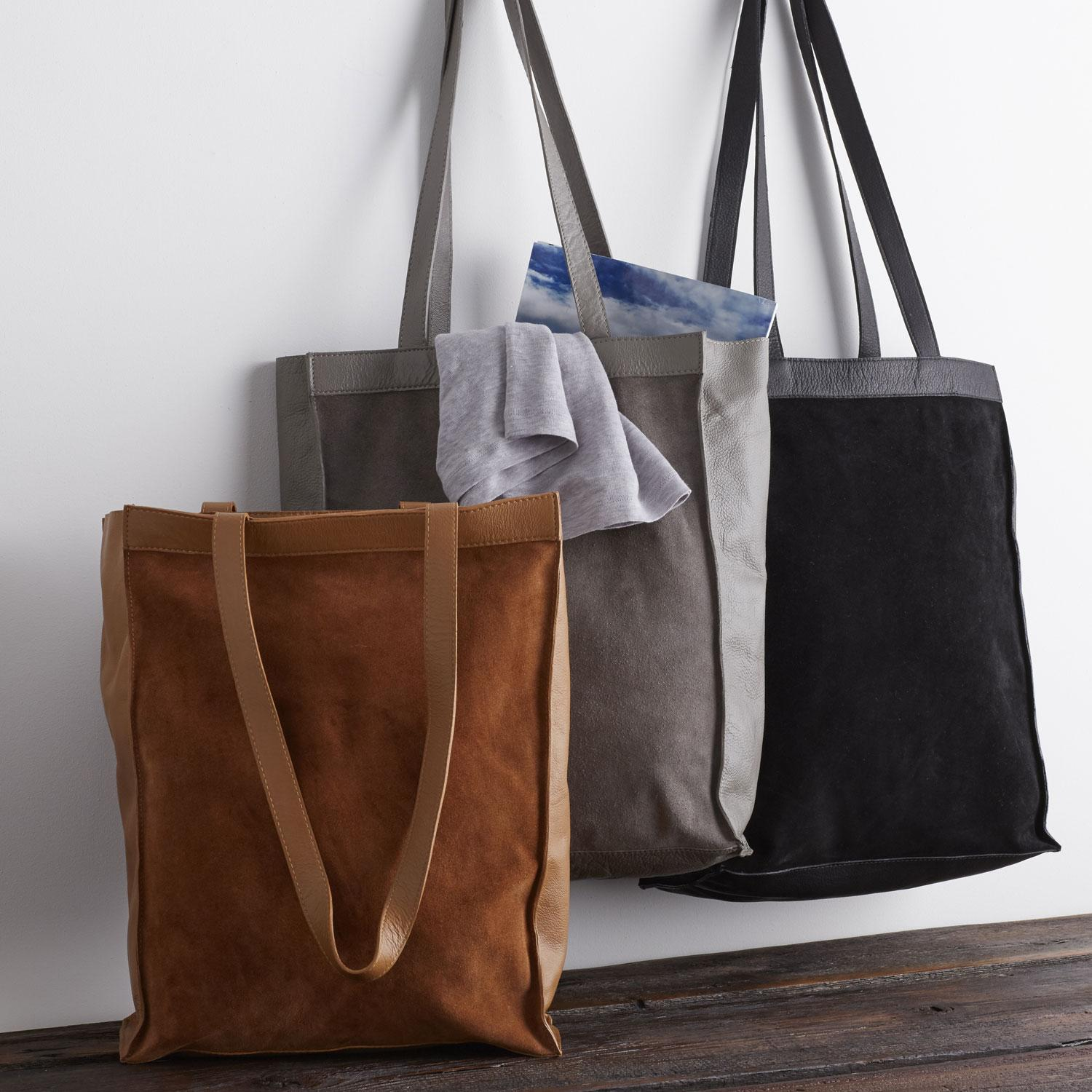 Leather Tote Collection - Shopping Tote