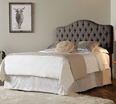 Stork Headboard in Pewter Fabric